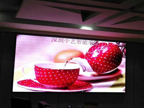 Indoor LED Display case in China