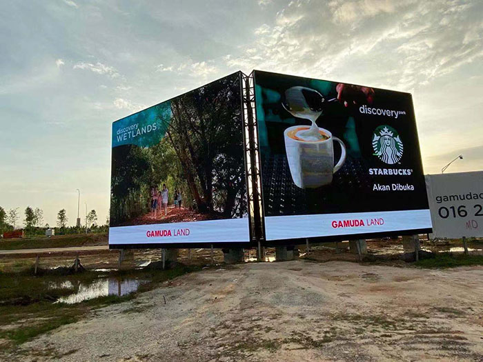 800㎡ Outdoor LED Screen in Malaysia